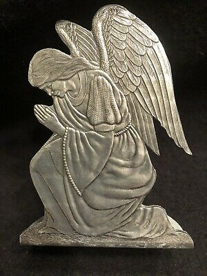 HTF Wendell August Christmas Self Standing Angel Hand Forged Aluminum EUC