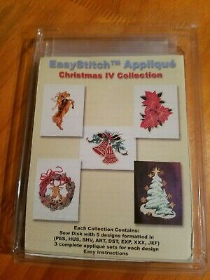 Embroidery Designs Floppy Disk - EasyStitch Applique - Christmas IV Collection