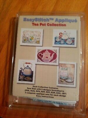 Embroidery Designs Floppy Disk - EasyStitch Applique - Tea Pot Collection