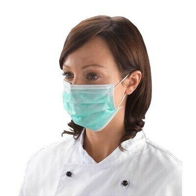 100 PCS Surgical Face Masks Disposable Medical Ear Loops Coronavirus