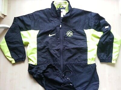 BORUSSIA DORTMUND Retro NIKE-Outdoor-Sport-BVB-Trainings-Jacke-Shirt-Blouson L