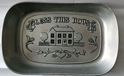 Wilton Armetale Bless This House Bread Serving Tray