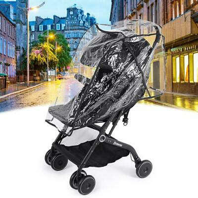 Baby Stroller Waterproof Rain Cover Pushchair Transparent Wind Dust Shield  CA