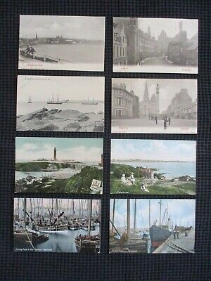 Lot Of 8 Different Vintage Postcards (Early 1900'S) Peterland, Scotland