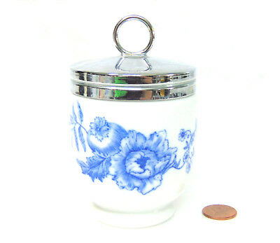 Royal Worcester Rhapsody EGG CODDLER BABY FOOD WARMER Blue White Rubber Threads!