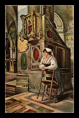 Dr Jim Stamps Woman Praying Rosary Rome Italy Topical View Postcard