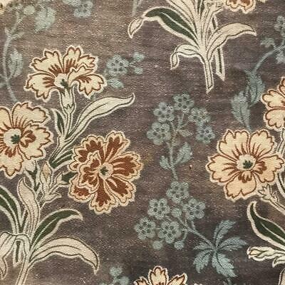 2 PIECES BEAUTIFUL 19th CENTURY FRENCH NAPOLEON III LINEN COTTON CARNATIONS 810