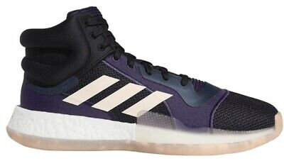Adidas Marquee Boost Men Size 13 Black Purple High Top Basketball Shoes [G27739]