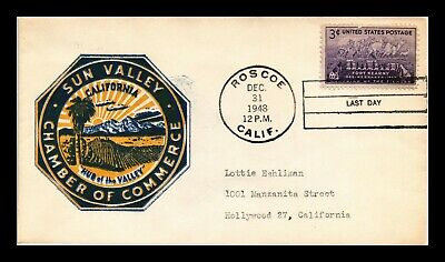 Dr Jim Stamps Us Last Day Cancel Sun Valley Cachet Scott 970 On Cover 1948