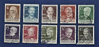 GERMANY BERLIN - 1952 Famous Berliners Fuill set of 10 - USED