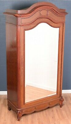 Antique Mahogany French Louis Style Glazed Armoire Wardrobe DELIVERY AVAILABLE