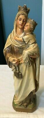 Rare Antique Carmelite Nuns Convent Our Lady Of Mount Carmel Statue