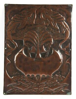 Arts and Crafts Copper Panel Newlyn Type Celtic Iona School