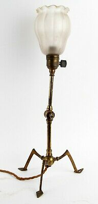 Arts and Crafts Brass Lampbase Aesthetic Movement WAS Benson Type Table Lamp