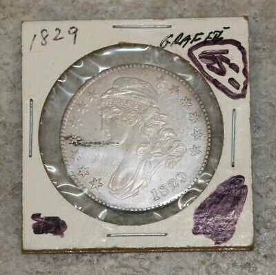 1829 Silver Capped Bust Half Dollar