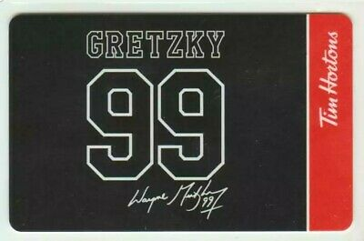 New! 99 Wayne Gretzky 99 Tim Hortons Gift Card Rc The Great One! Facsimile Auto