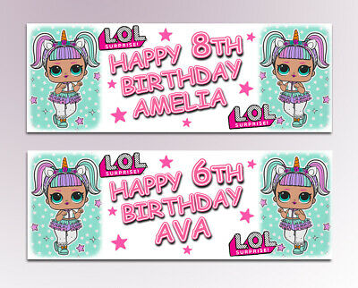 Personalised LOL Surprise Birthday Banner Name with any Age D069