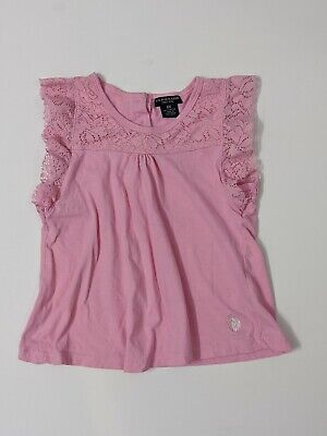 Ralph Lauren Pink Cotton Girls Shirt Size 6X