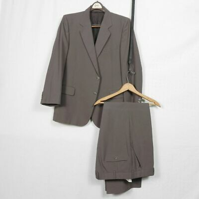 Vintage | Classic Custom Tailored Brown Suit Garbers Rinadldo Di Roma 42s