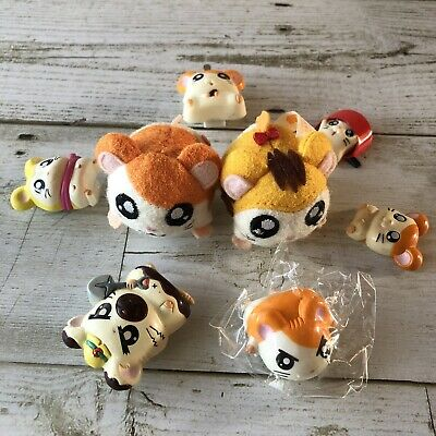 Hamtaro Hamster USED Magnet x10 JINGLE, SNOOZER, BIJOU etc. with tracking Number