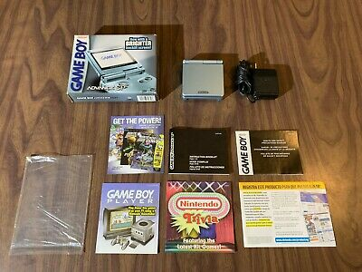Nintendo GameBoy Advance, GBA SP Pearl Blue System AGS 101 -- Complete