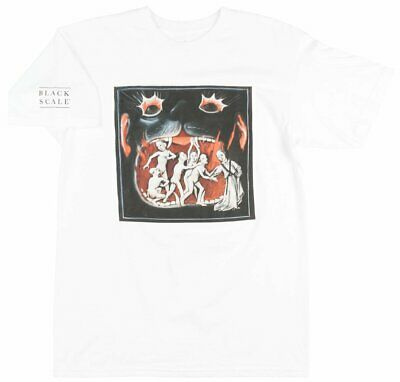 Black Scale Satanic Wolf T-Shirt Mens Occult Streetwear White Blvck Scvle