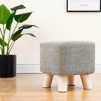 EXQUI Upholstered Footstool Ottoman Square Pouffe Footstool Footrest Stool Chang