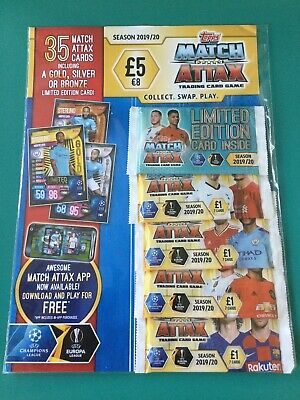 Match Attax Cards - 2019/20 UEFA Champions League Football 35 Cards + ..
