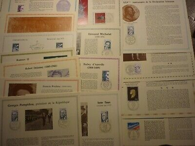 France Lot 31 Documents Illustres 1Er Jour D'emission. Bonne Valeur