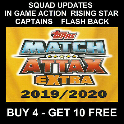 Match Attax Extra Champions League 2019/20 19/20 Super Boost Flash Back Captain