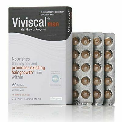 Viviscal Man Supplements 1 Month Supply -  60 Tablets - *New ** Long Expiry