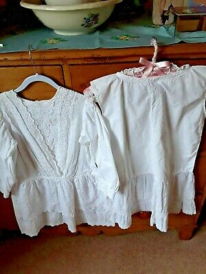 Antique Victorian Edwardian Childs Dress And Petticoat