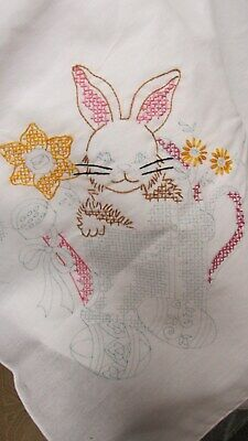 """""""""""Easter Themed Tablecloth To Embroider"""""""" - Tobin - Easter Gatherings - 58 X 104"""