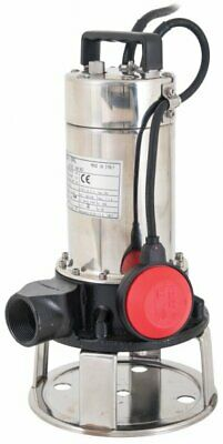 240V Cutter 140 Submersible Foul Water Pump Slurry Sludge Stainless Steel 150 L