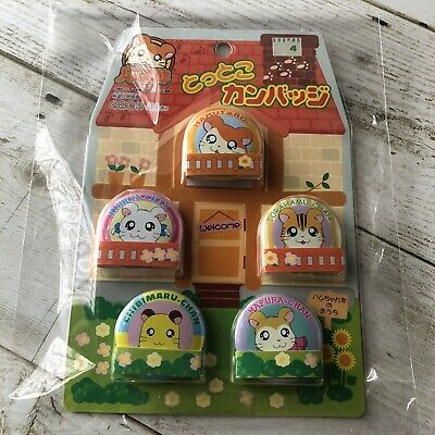 Hamtaro Hamster Can Badge Set free shipping with tracking#