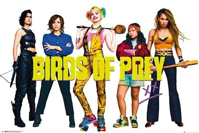 "BIRDS OF PREY - MOVIE POSTER (HARLEY QUINN & THE BIRDS) (SIZE: 36"" x 24"")"