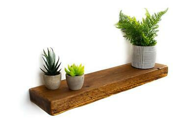 Rustic Floating Shelves | 15cm deep 5cm thick Handmade from Reclaimed Solid Wood