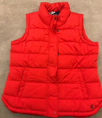 Ladies Joules Gilet/ Bodywarmer Size 14 Quilted Eastleigh Pillar Box Red
