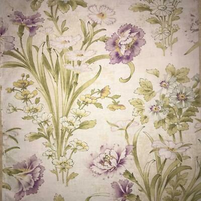 BEAUTIFUL LATE 19th CENTURY FRENCH FINE FLORAL LINEN COTTON CARNATIONS 816