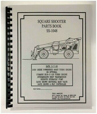 Terex SS-1048 Extendo Boom Square Shooter Forklift Parts Manual