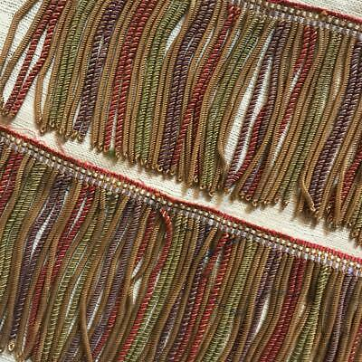 3 FRAGMENTS BEAUTIFUL FRENCH 19th CENTURY GOLD & SILK BULLION TRIM PASSEMENTERIE