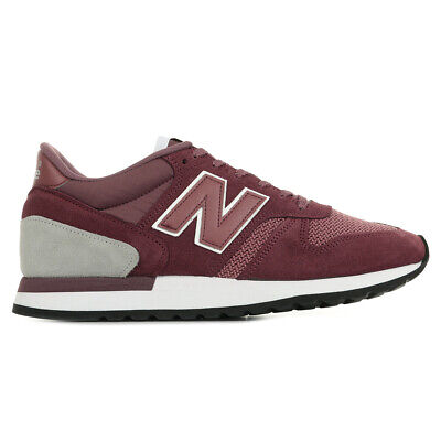 Chaussures Baskets New Balance homme M770 Made In UK taille Bordeaux Cuir Lacets