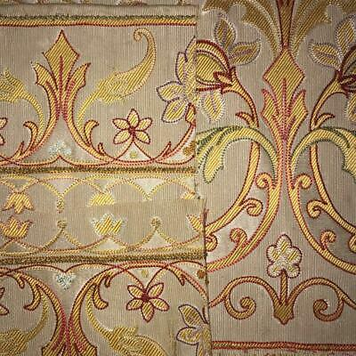 5 FRAGMENTS BEAUTIFUL 19th CENTURY FRENCH TAMBOUR EMBROIDERED SILK 814