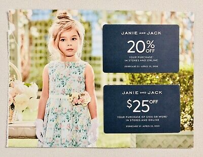 Janie & Jack 20% Off + $25 Off $100 Purchase In Store/Online Offers Exp 4/12/20