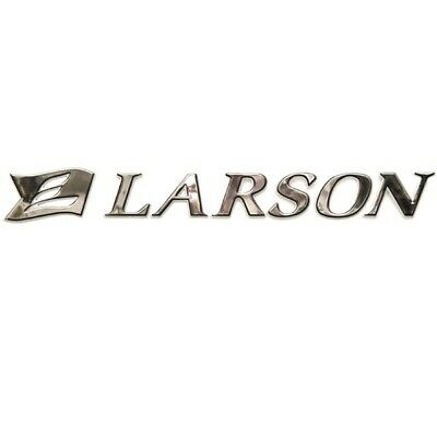 "LARSON LXI 2004 GRAPHIC PORT RAISED CRYSTAL SWEEP DECAL SILVER// ORANGE 26 3//8/"" X"