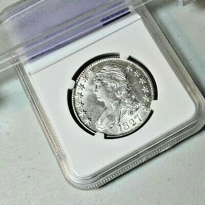 1827 Capped bust half dollar BLAST WHITE full luster