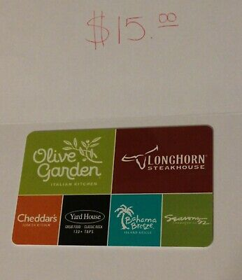 OLIVE GARDEN/DARDEN $15 Gift Card. Activated & Ready to Use.