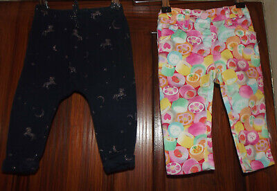 Baby Girls Next trousers 2 X Age 6 - 9 months