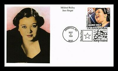 Dr Jim Stamps Us Mildred Bailey Jazz Singer First Day Cover Mystic Stamp Company