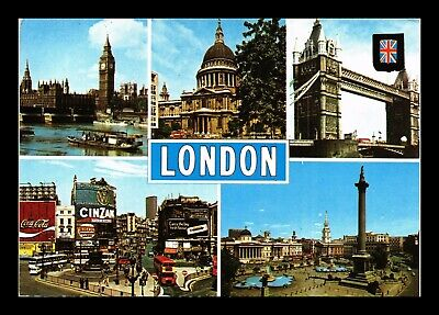 Dr Jim Stamps London Five Views United Kingdom Continental Size Postcard
